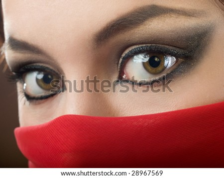 close up of fashion east make-up, shallow DOF