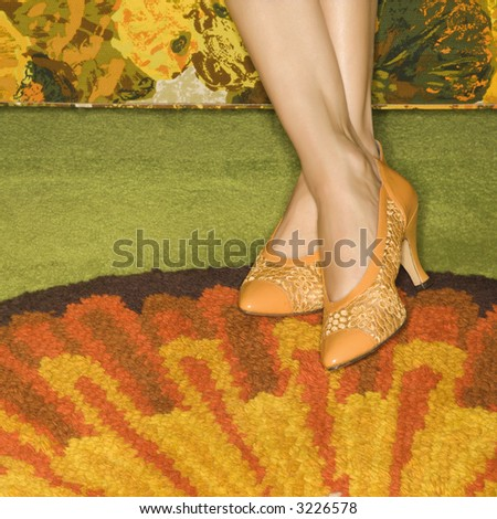 close up of female feet wearing ...