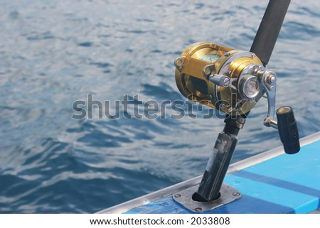 Close-up of fishing reel