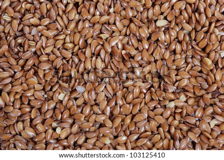Close up of flax seeds.