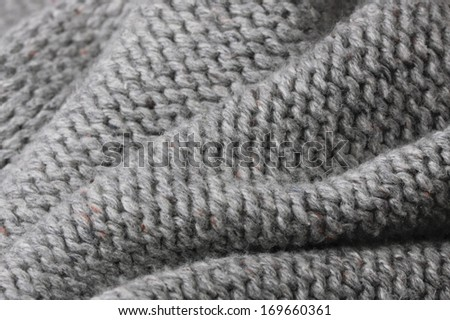 Close up of folded wool material with shallow depth of field #169660361