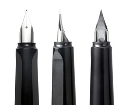 Close-up of fountain pen isolated on a white background