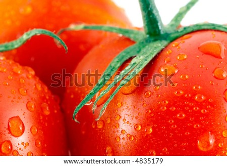close up of fresh red tomatoes