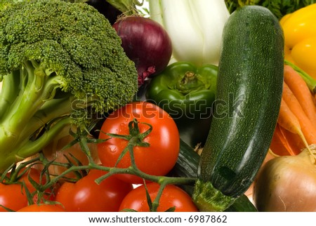 close-up of fresh vegetables for backgrounds