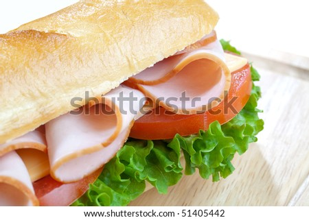 Close up of freshly made sandwich