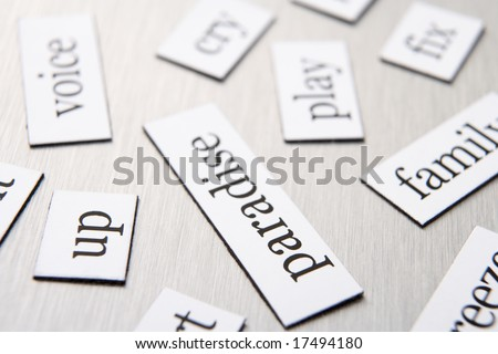Close-Up Of Fridge Magnets - stock photo