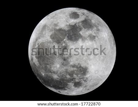 Close-up of full moon