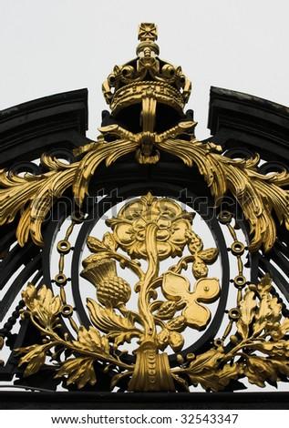 Close up of gate at Buckingham Palace