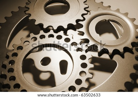 Close Up of Gear Wheels