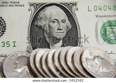 Close-up of George Washington's face on U.S. dollar bill, with focus on eyes