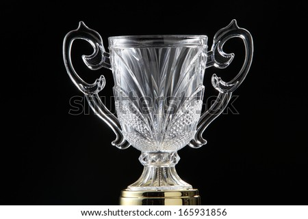 close up of glass trophy
