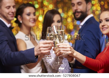 Close up of glasses with champagne #527808067