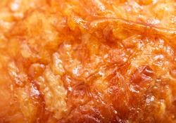 close up of grilled chicken skin