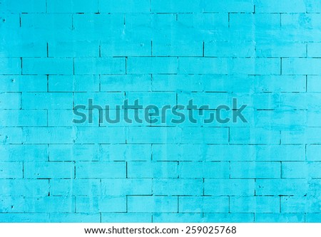 Close up of groove pattern blue concrete wall
