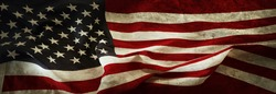 Close-up of grunge American flag