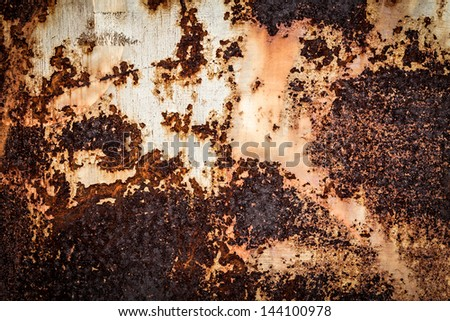 Close up of grunge rusty background - stock photo