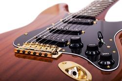 Close up of guitar
