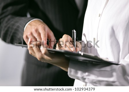Close Up of hands. Office workers working together