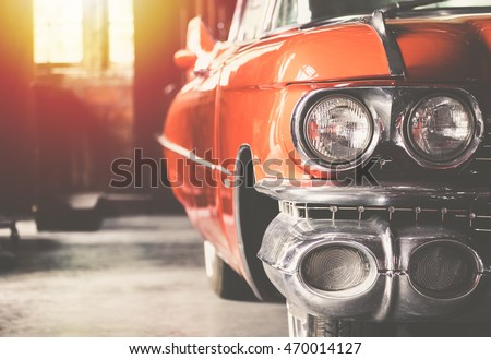 "stock photo close up of headlight lamp simply vintage car vintage and sunlight filter effect 470014127 - Каталог - Фотообои ""Автомобили"""