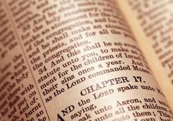 Close up  of Holy Bible