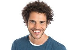 Close-up Of Honest Man Isolated On White Background