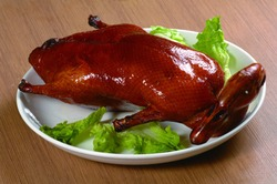 Close up of Hong Kong and Cantonese style  cuisine Roast Duck (Chinese: Shaoya)