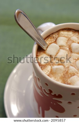 close up of hot chocolate