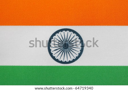 Close up of Indian Flag