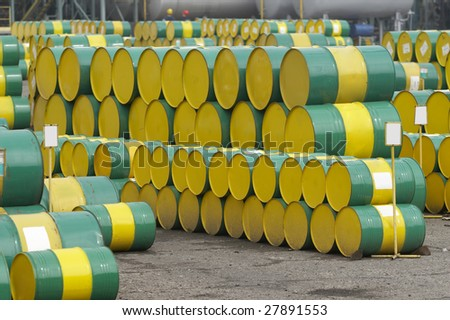 close up of industrial tanks of oil industry production