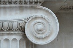 Close-up of Ionic column detail