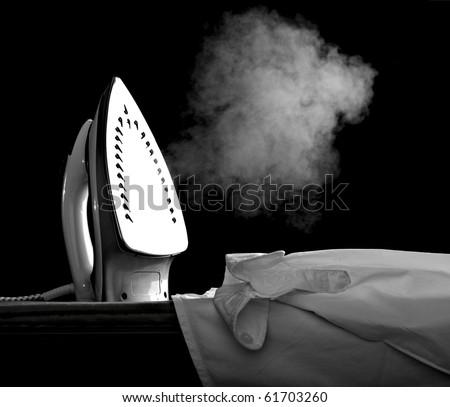 close up of ironing tool  on white background