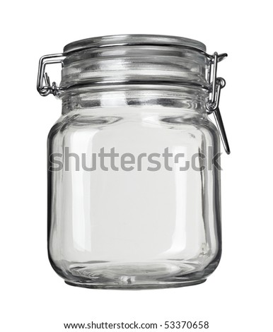 close up of jar on white background with clipping path