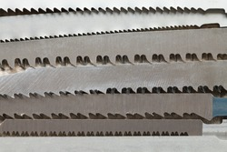 Close up of Jigsaw blades. This file is cleaned and retouched.