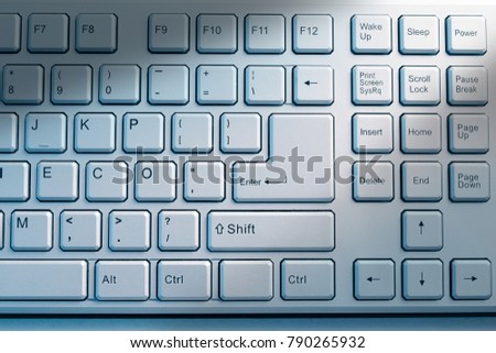 close up of keyboard for your business concept #790265932