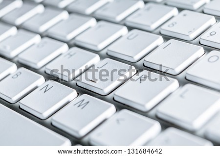 Close up of keyboard of a modern laptop #131684642