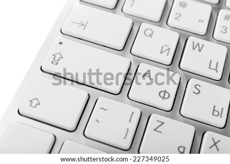 Close up of keyboard of modern laptop #227349025