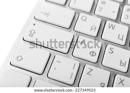 Close up of keyboard of modern laptop #227349025