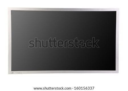 Close up of lcd screen. Isolated on a white background.
