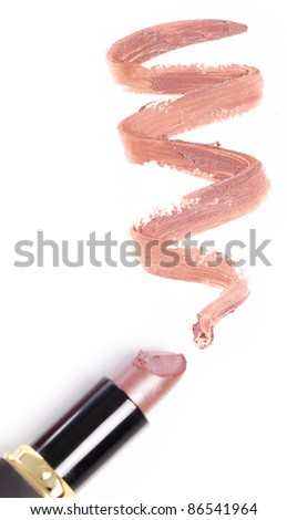 Close up of Lipstick with trace