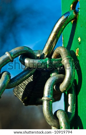 close-up of lock and chain