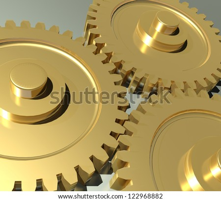 Close up of Machine Gears and Cogs