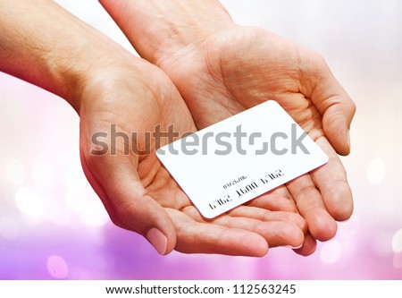 Close-up of man hand holding plastik credit card