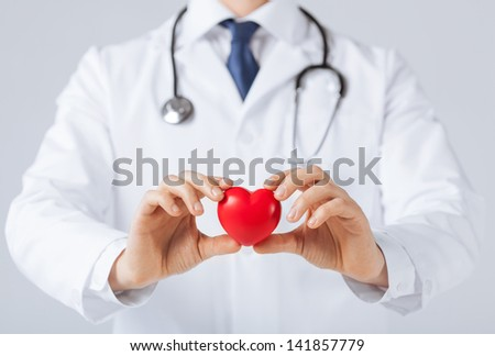 close up of man hands with heart