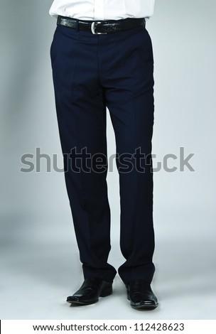 Close up of man's business pants. - stock photo