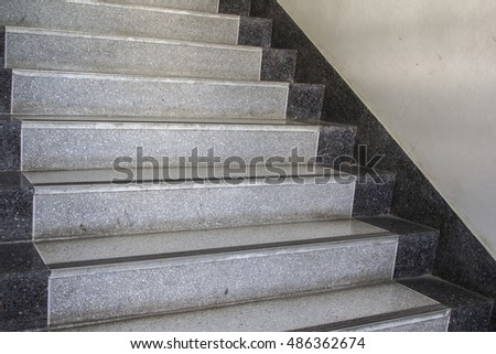 Close Up Of Marble Staircase. #486362674