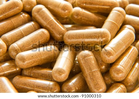 close up of medical capsules