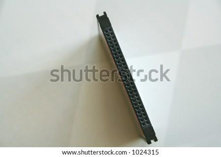 close-up of memory card