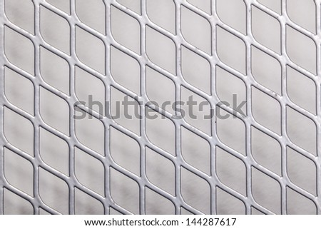 Close up of metal net