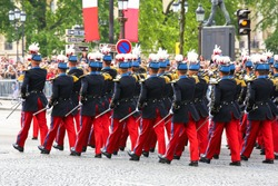 Close-up of Military parade during the ceremonial