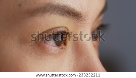 Close up of Mixed race woman's eyes #233232211